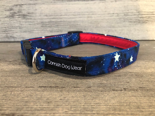 Glow in the dark Galaxy Dog Collar