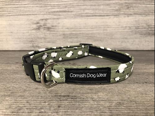 Olive Sheep Dog Collar