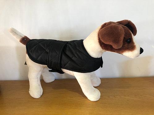Black Padded Shower Proof Dog Coat