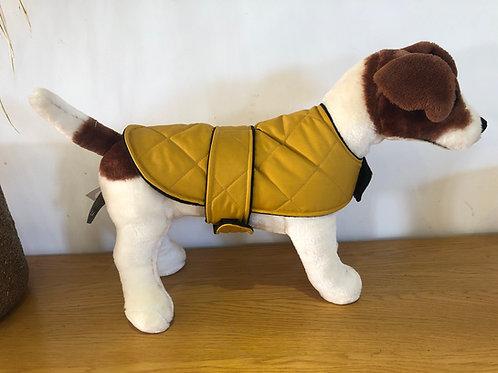 Mustard Padded Shower Proof Dog Coat