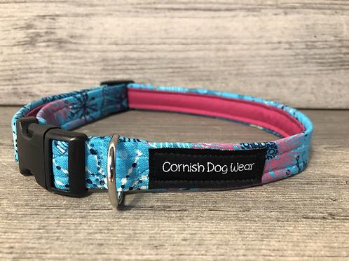 The Aqua Coral Reef Dog Collar