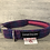 Thumbnail: Harris Tweed Cerise Pink and Blue Check Dog Collar