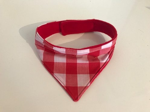 Traditional Red And White Gingham Dog Bandana