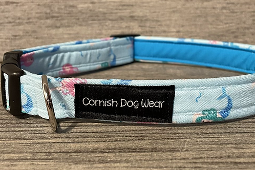 Swimming with the Mermaids dog collar