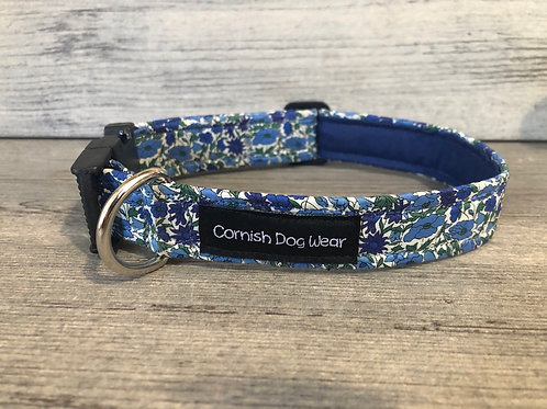 Liberty Blue and Green Betsy Ann Dog Collar