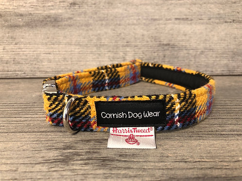 Harris Tweed Cornish Tartan Dog Collar