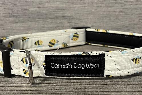 Bees On Lemon dog collar