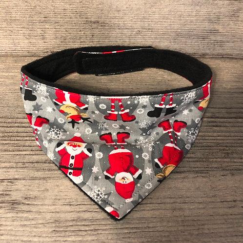 Grey Santa Christmas Dog Bandana
