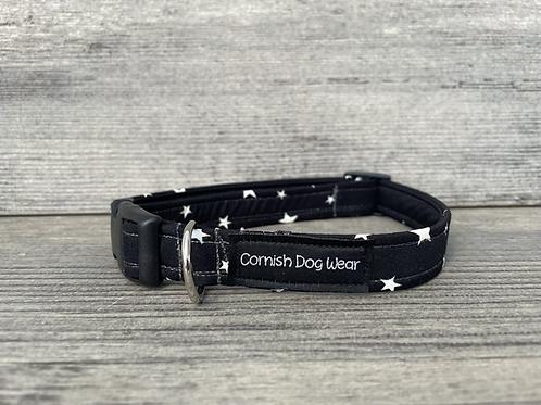 Stars on Black dog collar