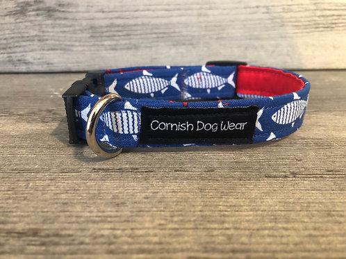 Blue Fish Dog Collar