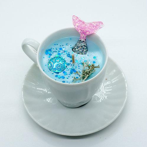 "Books 'n Tea Candle ""Sea Song"""