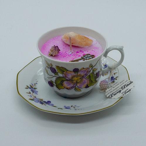 """Books 'n Tea Candle """"Sweet Flowers"""""""