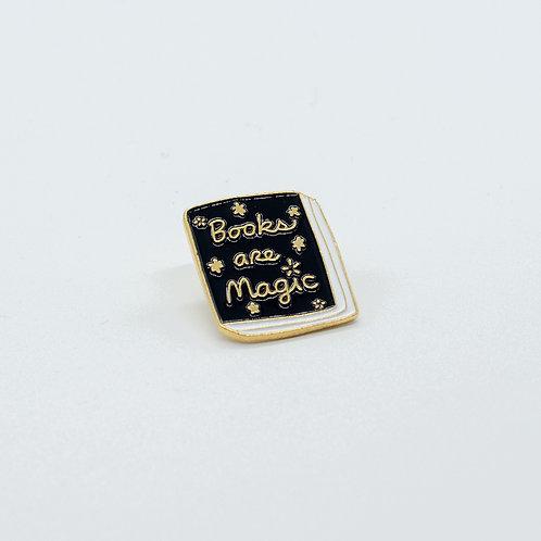 """Pin """"Books are Magic"""""""