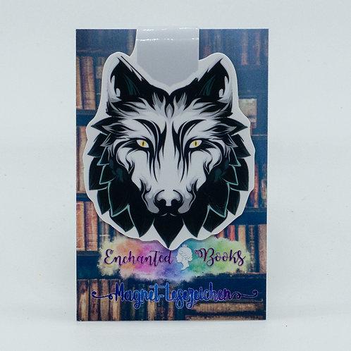 """Magnetlesezeichen """"White Wolf"""""""