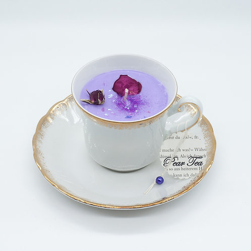 "Books 'n Tea Candle ""Violet Blossom"""