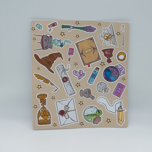 """Stickersheet """"Books are magical"""""""