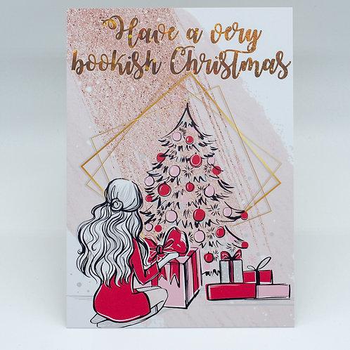 "Postkarte ""Have a very bookish Christmas"""