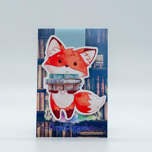 """Magnetlesezeichen """"Bookish Fox - Fridolin"""""""