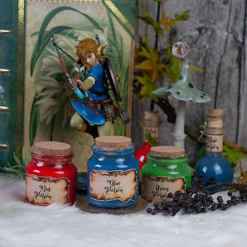 "Zaubertrank ""Blue Potion"" im Glas"