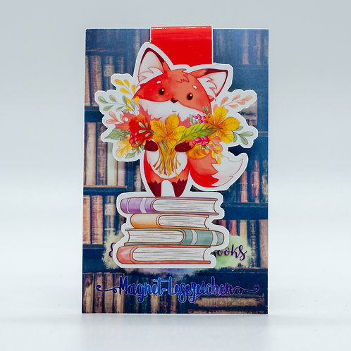 "Magnetlesezeichen ""Bookish Fall - Fridolin"""