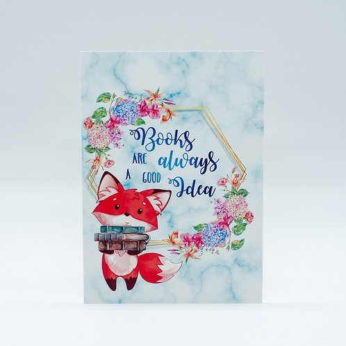 "Postkarte ""Books are alway a good Idea"""