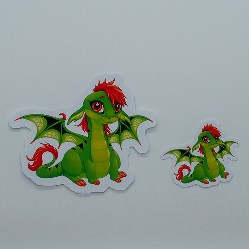 "Sticker ""Book Dragon Ginger"""