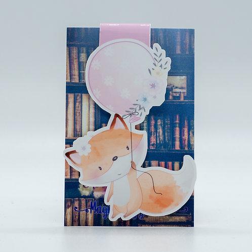 """Magnetlesezeichen """"Balloon Fox"""""""