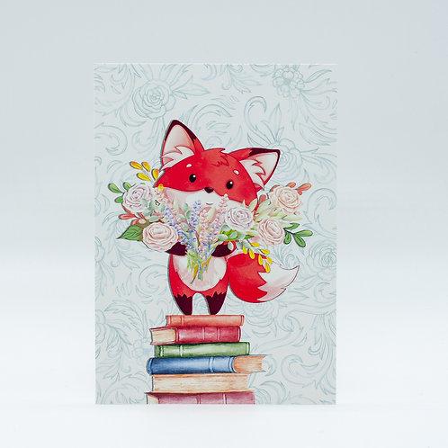 "Postkarte ""Bookish Spring"""