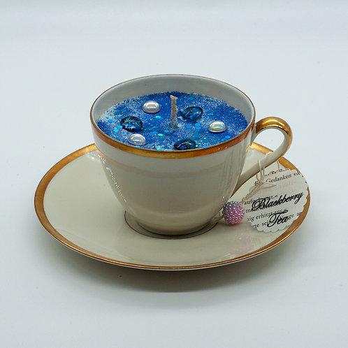 "Books 'n Tea Candle ""Milky Way"""