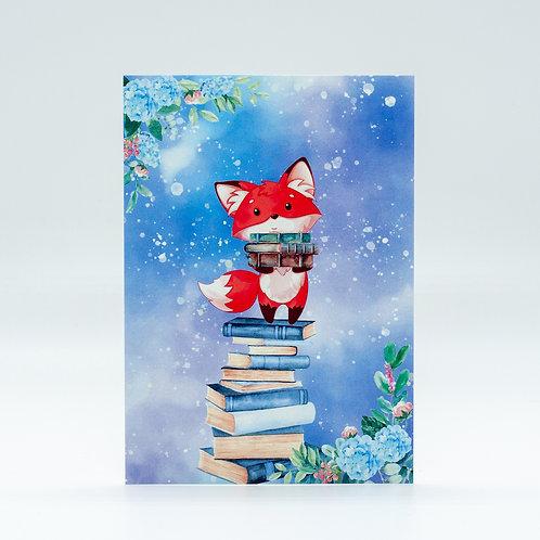 "Postkarte ""Bookish Fox"""