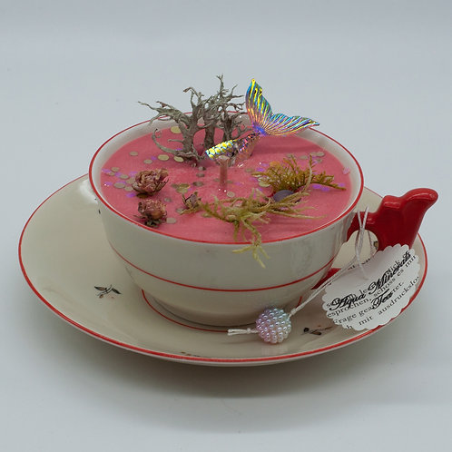 "Books 'n Tea Candle ""Tea in Five Roses"""