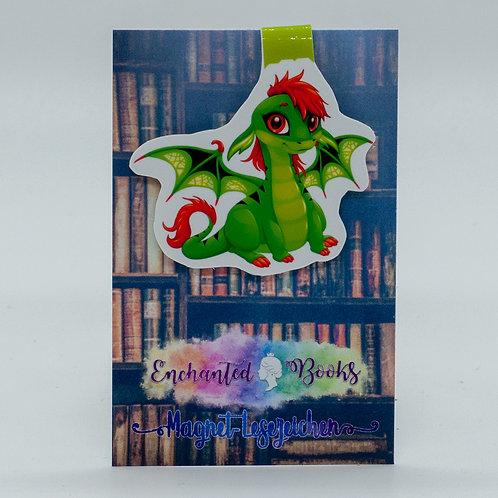 """Magnetlesezeichen """"Book Dragon Ginger"""""""
