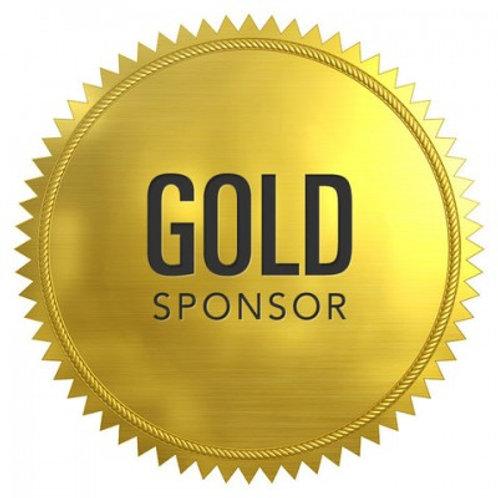 Gold Sponsorship ($375 Cash + $375 Product Donation)