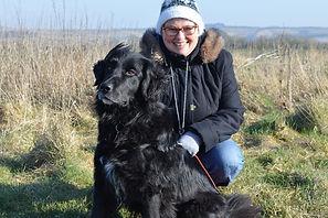 Helen Bellinger and dog Harvey