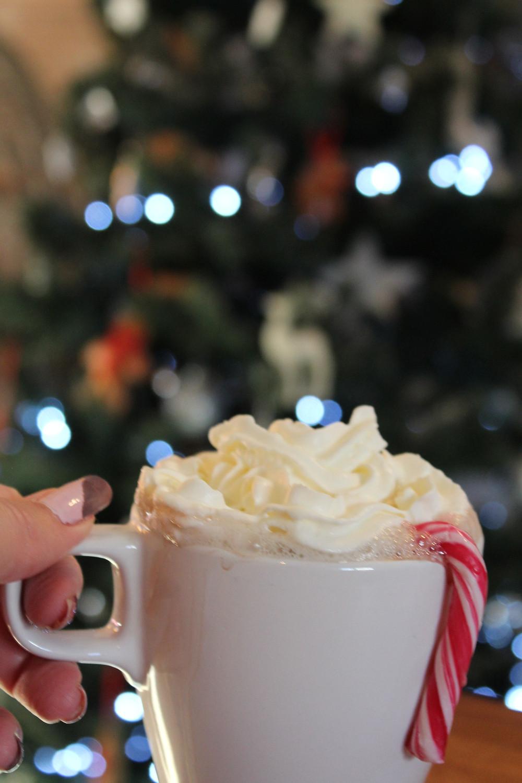 el unico, el unico blog, elunico, hot chocolate, christmas, candycane, aesethics, tree