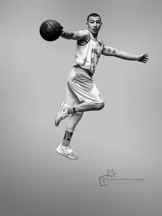 Basketball Sportler Portrait