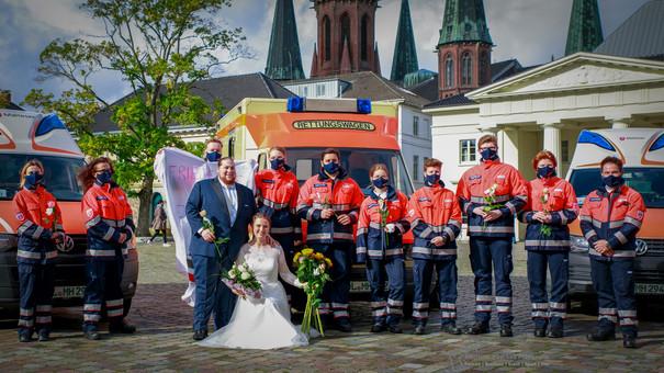 Hochzeit nach der Trauung mit Johaniter