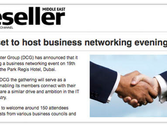 DCG set to host business networking evening