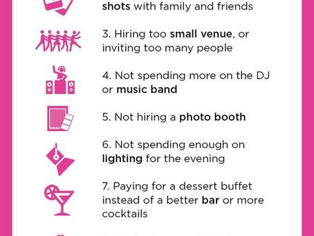 Top 10 Bridal Regrets!