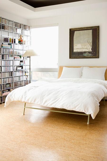 Spotless clean bedroom