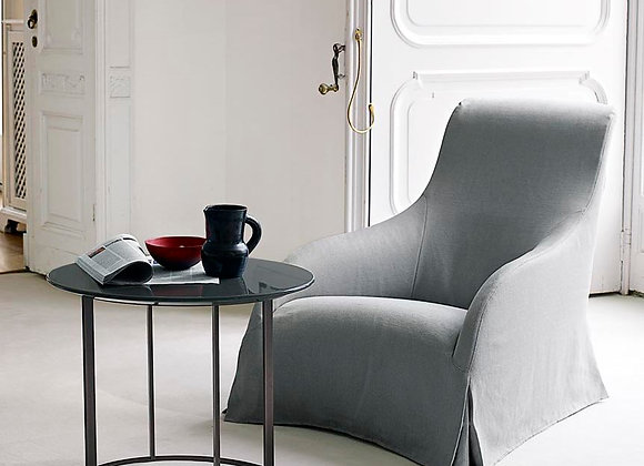 KALOS swivel armchair + ottoman