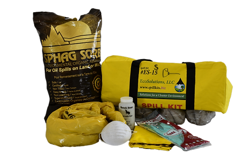 15 Gallon Activated Peat Spill Kit