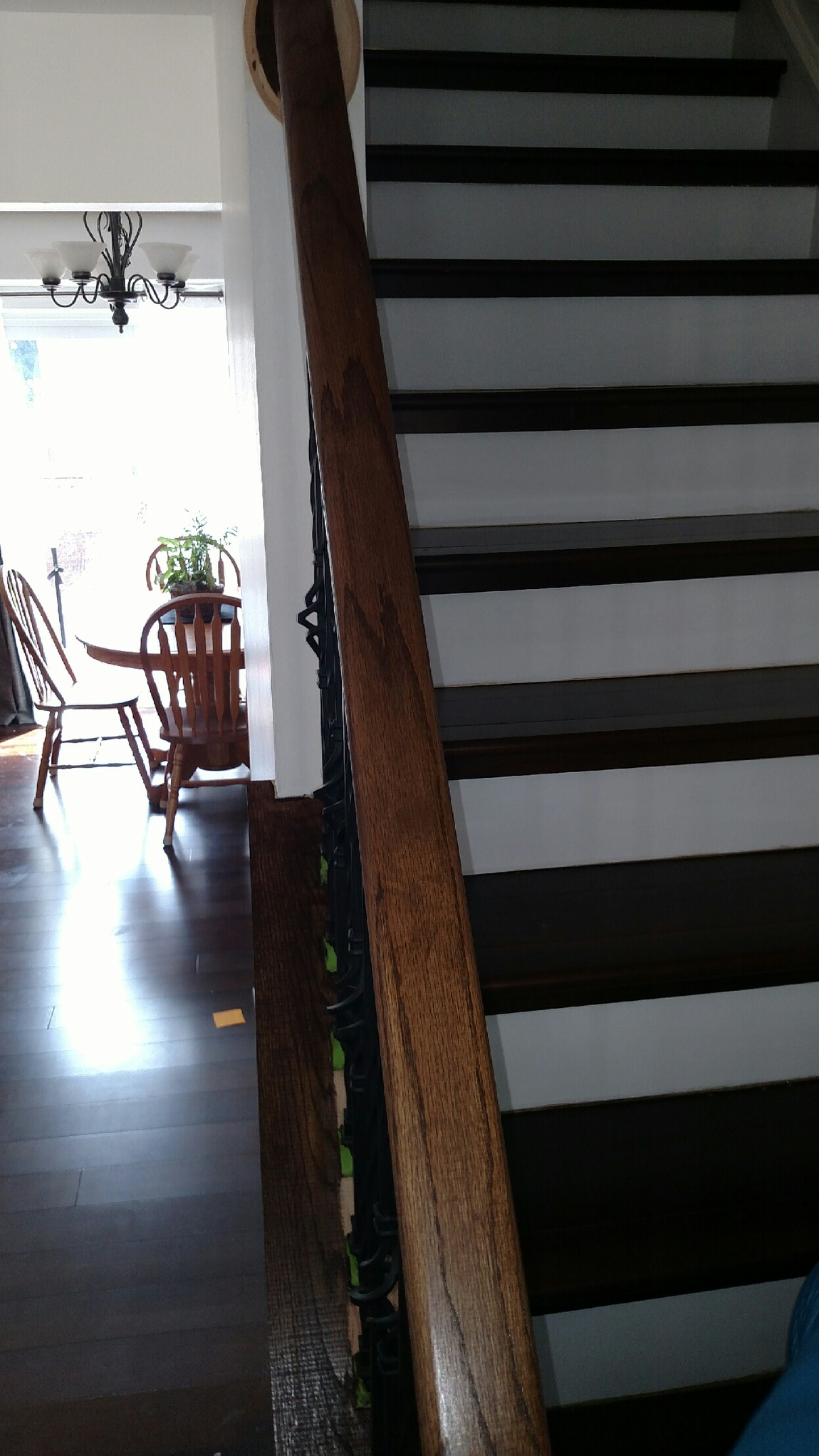 Stairway, railing and hallway paint