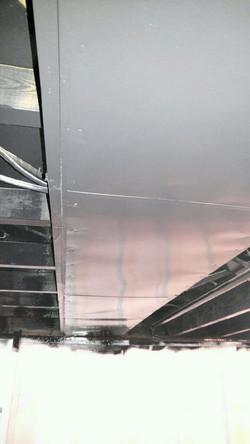 Basement ceiling after