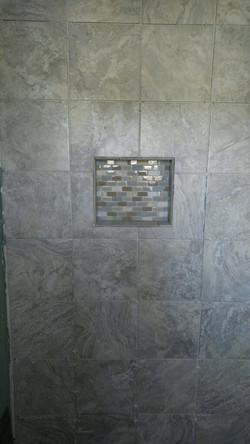 Mosaic inlay shelf