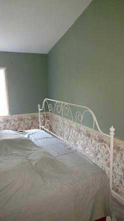 Bedroom Wallpaper - Before