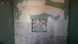 shower mosaic shelf