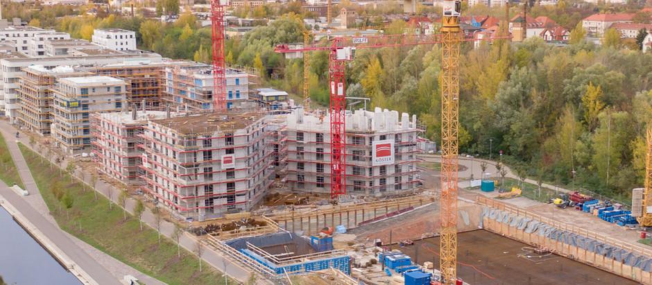 Baufortschritt im November 2019