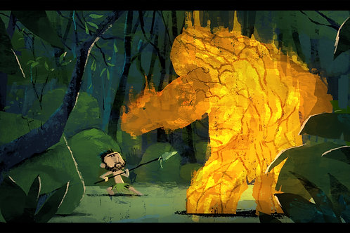 The fire Golem