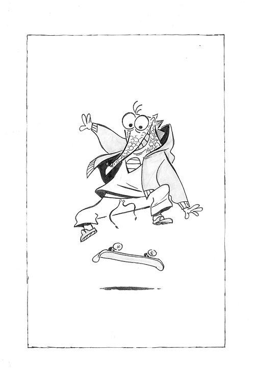 Print_Croco skate